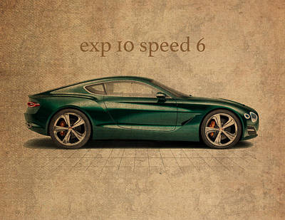Bentley Exp 10 Speed 6 Vintage Concept Art Art Print