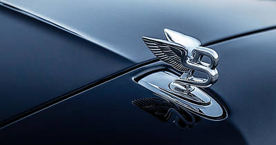 Chrome Wall Art - Digital Art - Bentley Flying B by Douglas Pittman