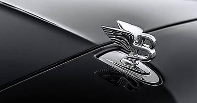 Digital Art - Bentley Flying B Monochrome by Douglas Pittman