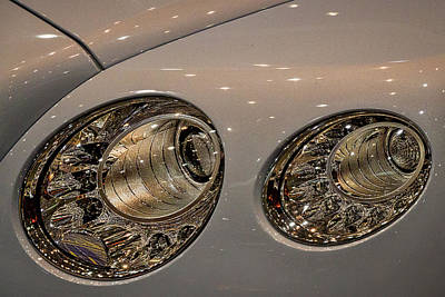 Photograph - Bentley Headlights by Stuart Litoff