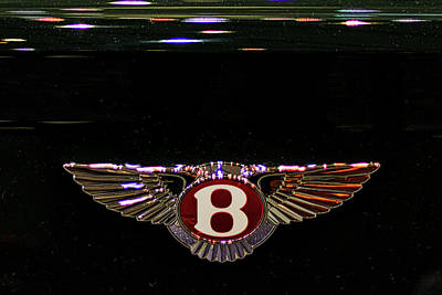 Photograph - Bentley Insignia #2 by Stuart Litoff