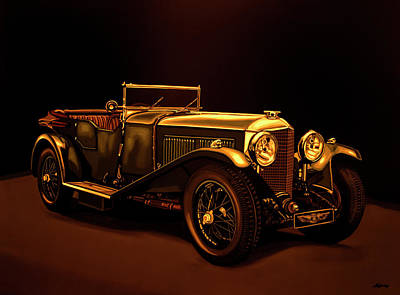 Painting - Bentley Open Tourer 1929 Mixed Media by Paul Meijering