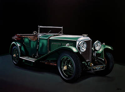 Bentley Open Tourer 1929 Painting Original