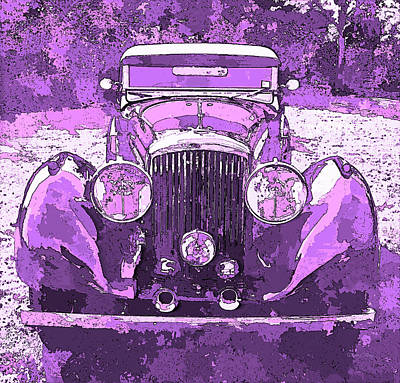 Digital Art - Bentley Red Violet Pop Art P3 by David King