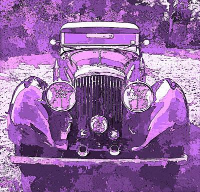 Digital Art - Bentley Red Violet Pop Art P3 by David King