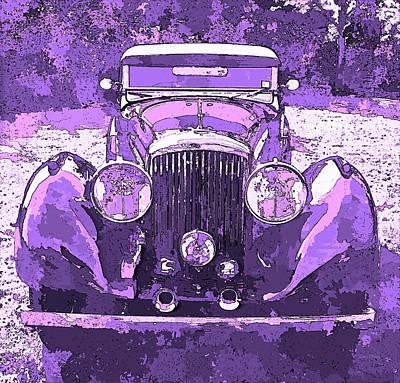 Digital Art - Bentley Violet Pop Art P2 by David King