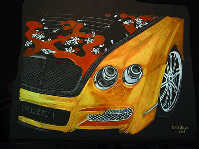 Painting - Bentley W66gts by Richard Le Page