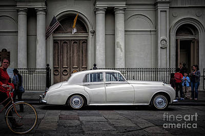 Photograph - Bentley Waits For Bride - St. Louis Cathedral- Nola by Kathleen K Parker