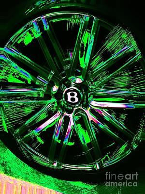Photograph - Bentley Wheel Mod by Jenny Revitz Soper
