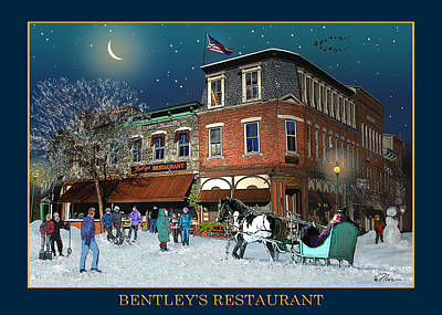 Photograph - Bentleys Resaturant At Cabot Block by Nancy Griswold