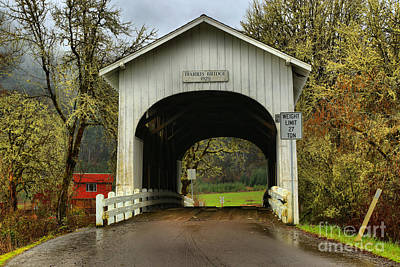 Photograph - Benton County Harris Covered Bridge by Adam Jewell