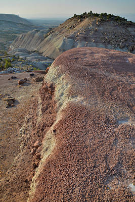 Photograph - Bentonite Dunes Above Bang's Canyon by Ray Mathis