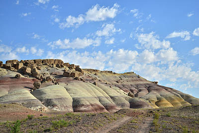Photograph - Bentonite Dunes Along Cathedral Valley Road by Ray Mathis