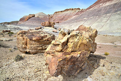 Photograph - Bentonite Dunes And Boulders by Ray Mathis