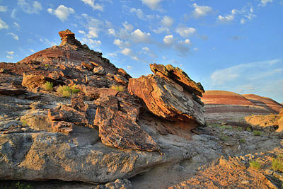 Photograph - Bentonite Dunes In Cathedral Valley by Ray Mathis