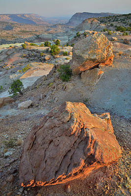 Photograph - Bentonite Quarry Overlooking Bang's Canyon by Ray Mathis