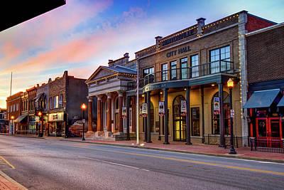 Photograph - Bentonville Arkansas Central Avenue Skyline by Gregory Ballos