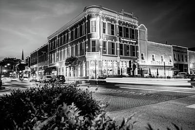Photograph - Bentonville Arkansas Cityscape - Black And White by Gregory Ballos