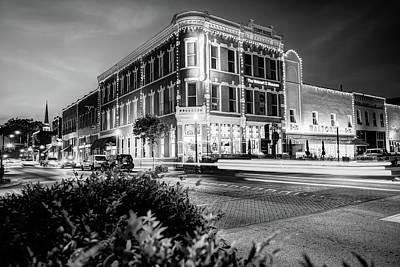 Photograph - Bentonville Arkansas Cityscape - Black And White by Gregory Ballos