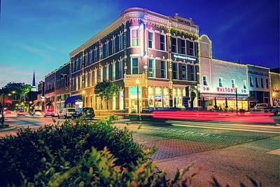 Photograph - Bentonville Arkansas Cityscape Vintage Polaroid by Gregory Ballos