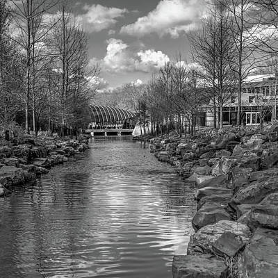 Photograph - Bentonville Arkansas Crystal Bridges In Black And White by Gregory Ballos