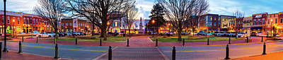 Photograph - Bentonville Arkansas Downtown Panorama - City Buildings by Gregory Ballos