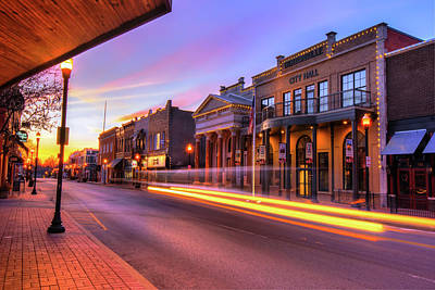 Photograph - Bentonville Arkansas Skyline Sunrise by Gregory Ballos