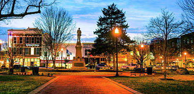 Photograph - Bentonville Arkansas Town Square Panoramic - Color by Gregory Ballos