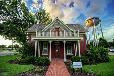 Photograph - Bentonville County Historical Society And Water Tower - Northwest Arkansas Usa by Gregory Ballos