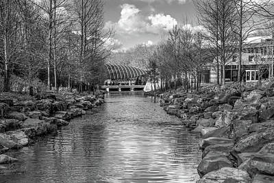 Photograph - Bentonville Crystal Bridges In Black And White by Gregory Ballos