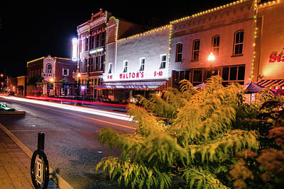 Photograph - Bentonville Downtown Skyline Town Square by Gregory Ballos