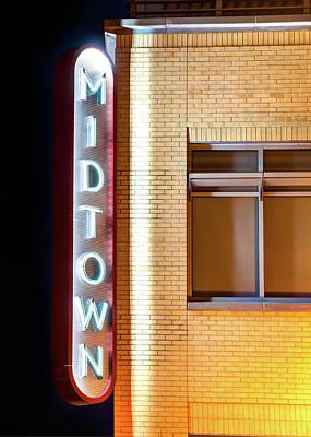 Photograph - Bentonville Midtown Vintage Neon - Northwest Arkansas by Gregory Ballos