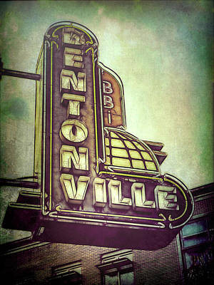 Photograph - Bentonville Sign Vintage Style by Ann Powell