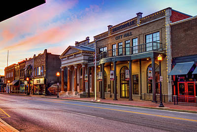 Photograph - Bentonville Skyline Along Central Avenue by Gregory Ballos