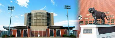 Photograph - Bentonville Tiger Stadium - Panorama Collage by Gregory Ballos