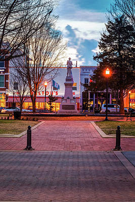 Photograph - Bentonville Town Square And Walton 5 And 10 by Gregory Ballos