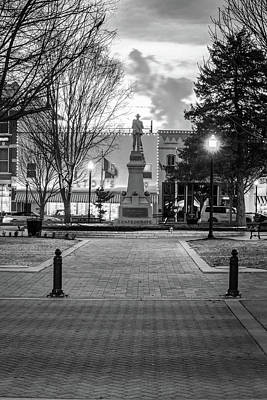 Photograph - Bentonville Town Square And Walton 5 And 10 In Black And White by Gregory Ballos