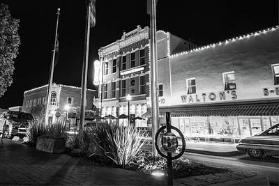 Photograph - Bentonville Town Square - Black And White by Gregory Ballos