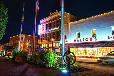 Photograph - Bentonville Town Square - Color by Gregory Ballos