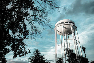 Photograph - Bentonville Water Tower - Blue Contrasts by Gregory Ballos
