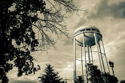 Photograph - Bentonville Water Tower - Sepia Contrasts by Gregory Ballos