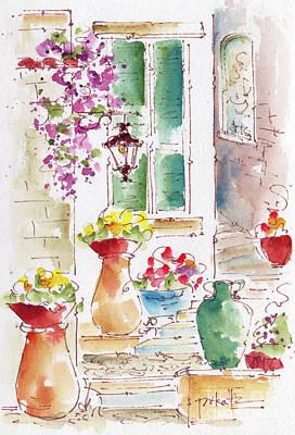 Painting - Benvenuto A La Tonnarella by Pat Katz