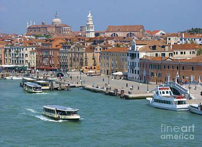 Photograph - Benvenuto Venice by Sandra Bronstein
