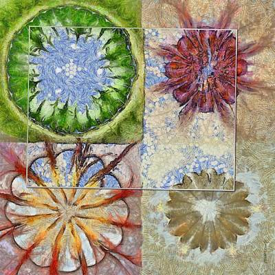 Slate Pattern Painting - Bepainted Concrete Flower  Id 16165-003711-19651 by S Lurk