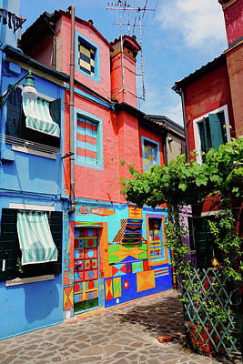 Photograph - Bepi's House On The Island Of Burano, Italy by Richard Rosenshein