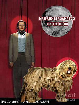 Painting - Bergamasco Art Canvas Print - Man On The Moon Movie Poster by Sandra Sij