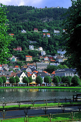 Photograph - Bergen City Scape by Sally Weigand