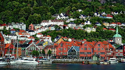 Photograph - Bergen City View by Anthony Dezenzio