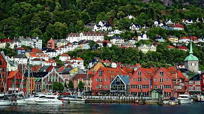 Photograph - Bergen City View by Anthony Dezenzio