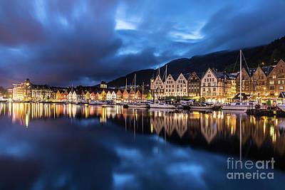 Bergen Harbor Art Print